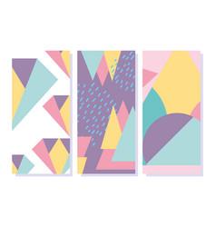 memphis geometric elements retro style texture vector image