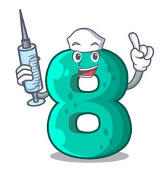 Nurse number house eight the shaped character vector