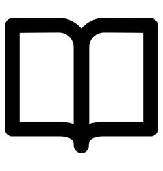 Open Book Stroke Icon vector