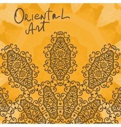 Oriental Art Print Yoga Ornament kaleidoscopic vector