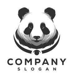 panda logo design vector image