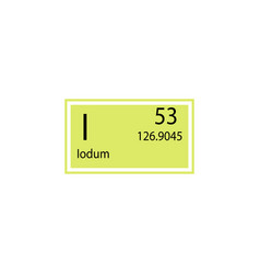 Periodic table element iodum icon element of vector