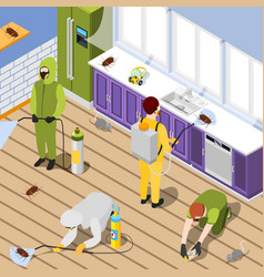 Pest control isometric background vector