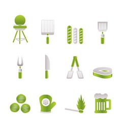 picnic and barbecue icons vector image