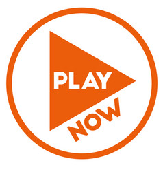 Play now sign on white background vector