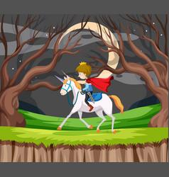 Prince ride a horse vector