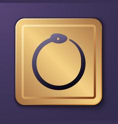Purple magic symbol ouroboros icon isolated vector