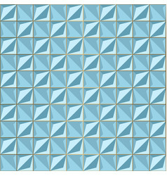 seamless blue volume 3d background geometric vector image