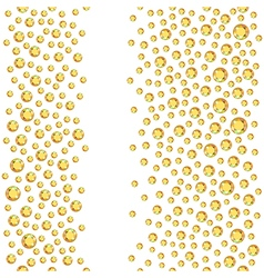Seamless scattered rhinestones vector