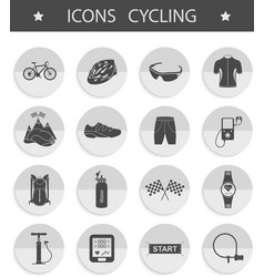 Set of icons cycling vector