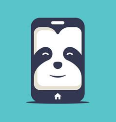Sloth phone logo vector