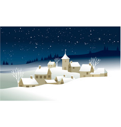 Small christmas village vector