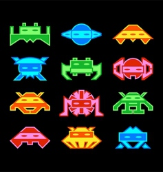 Space invaders vector