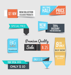 super sale flyer layout with colorful banners vector image