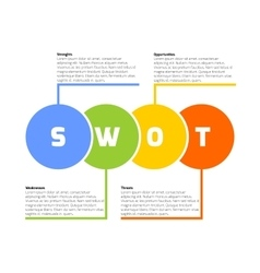 Swot business infographic vector