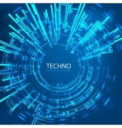 Techno 4 vector image