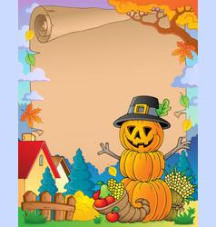 Thanksgiving theme parchment 6 vector
