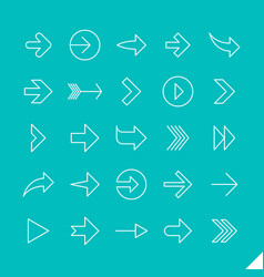 thin linear arrows icons set vector image