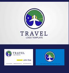 Travel christmas island creative circle flag logo vector