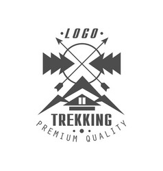 trekking premium quality logo design vintage vector image