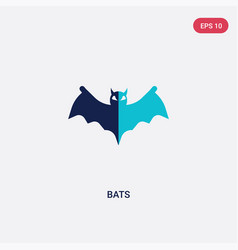 two color bats icon from halloween concept vector image