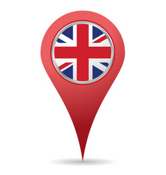uk location icon vector image