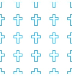 Unique Protestant Cross seamless pattern vector image