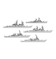 us destroyers vector image