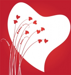 valentines day abstract with dandelion vector image