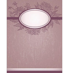 vintage romantic design vector image