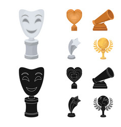 white mask mime for the best drama a prize in the vector image