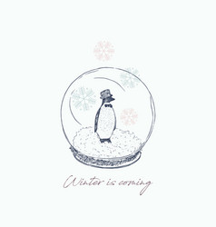 winter is coming gift card vector image