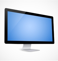 Computer display with blue screen vector image vector image
