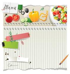 salad menu vector image