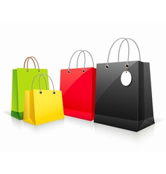 Shopping colorful paper bag vector image
