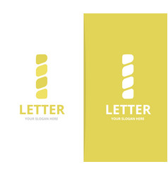 unique letter i logo design template vector image
