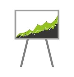 arrow growth graphic icon vector image vector image