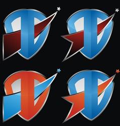 Comet Shield Icon Set vector image vector image