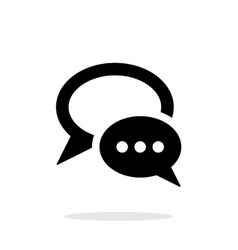 Dialogue bubble icon on white background vector