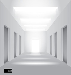Hall perspective vector image vector image