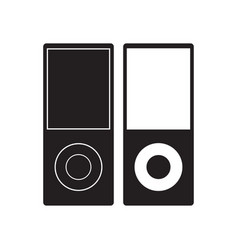 ipod icon music player flat sign vector image