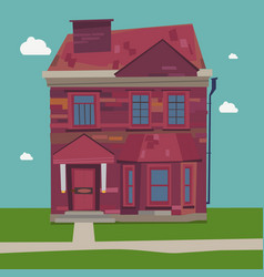 two story house europe style at home in settings vector image vector image
