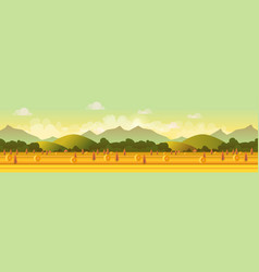 farm panorama for your design vector image vector image