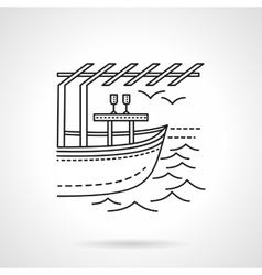 Romantic leisure flat line icon vector image