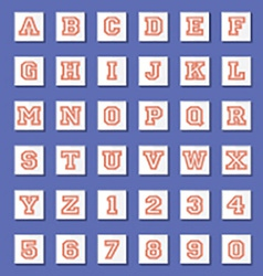 Vintage Style Alphabets And Numbers Set vector image