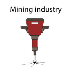color for the mining industry vector image vector image