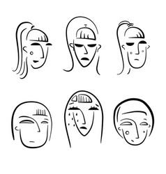 funny cartoon woman character vector image