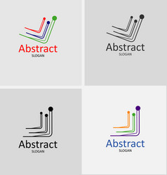 global business logo abstract vector image vector image
