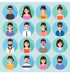 people flat design icon set vector image