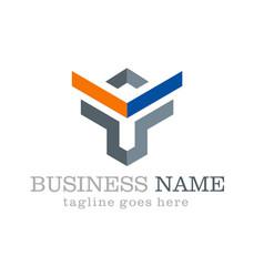 Shape geometry logo design vector